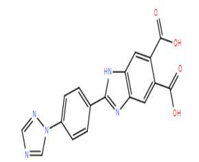 2-(4-(1H-1,2,4-triazol-1-yl)phenyl)-1H-benzo[d]imidazole-5,6-dicarboxylic acid