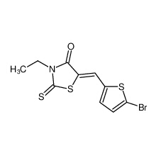 5-((5-bromothiophen-2-yl)methylene)-3-ethyl-2-thioxothiazolidin-4-one|1087689-75-5